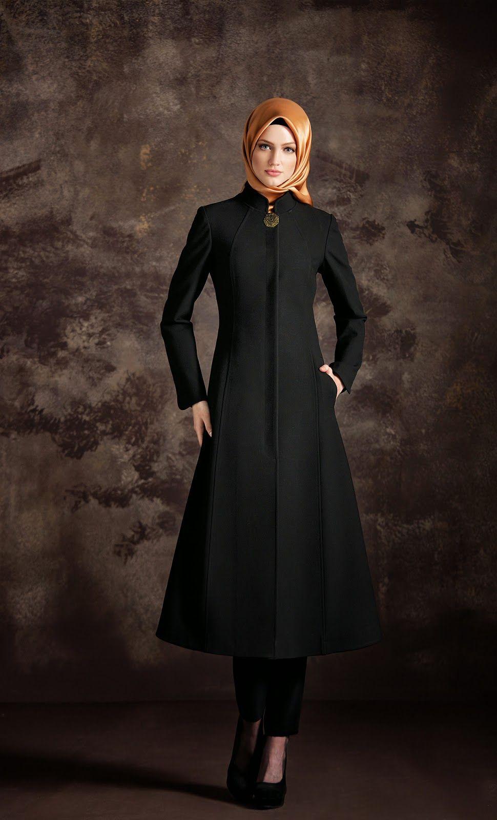 tenue et v tements hijab hiver 2015 modeles femme mohajaba pinterest hijabs abayas and robe. Black Bedroom Furniture Sets. Home Design Ideas