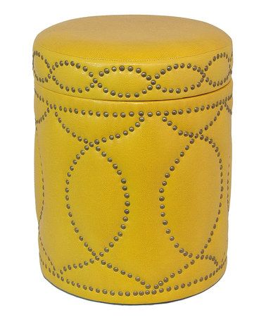 Take a look at this Yellow Ottoman by Three Hands Corporation on ...