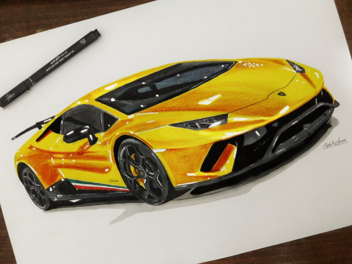 Lamborghini Huracan Car Design Sketch Car Drawings Cool Car Drawings