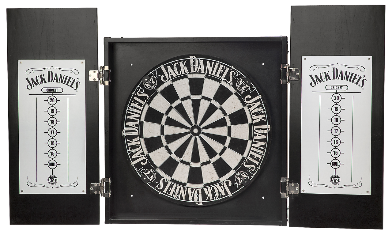 Jack Danielu0027s Dartboard And Cabinet Set
