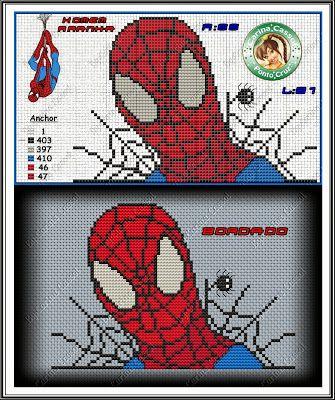 Magic dots: Graphics of Spiderman.