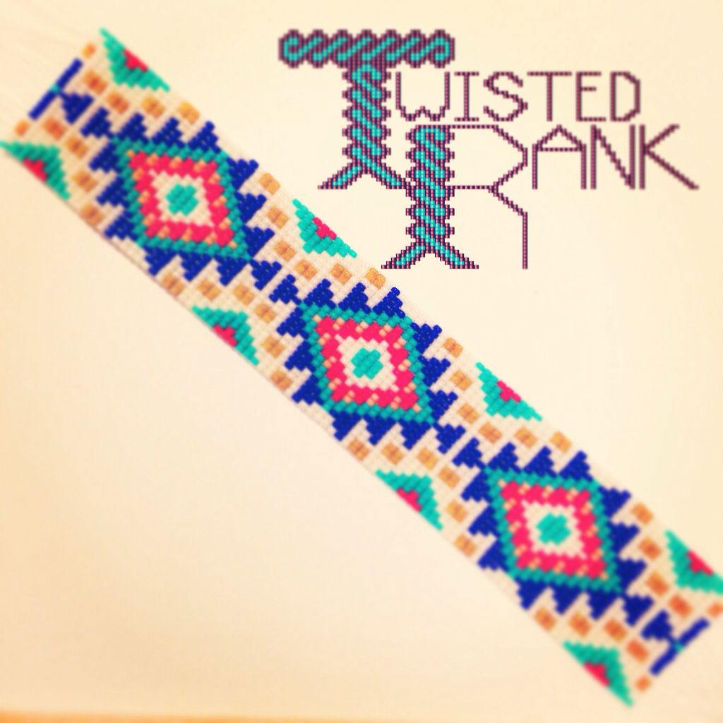 Native southwest pattern bracelet - Be sure to check out Twisted Rank Beadwork on Facebook!