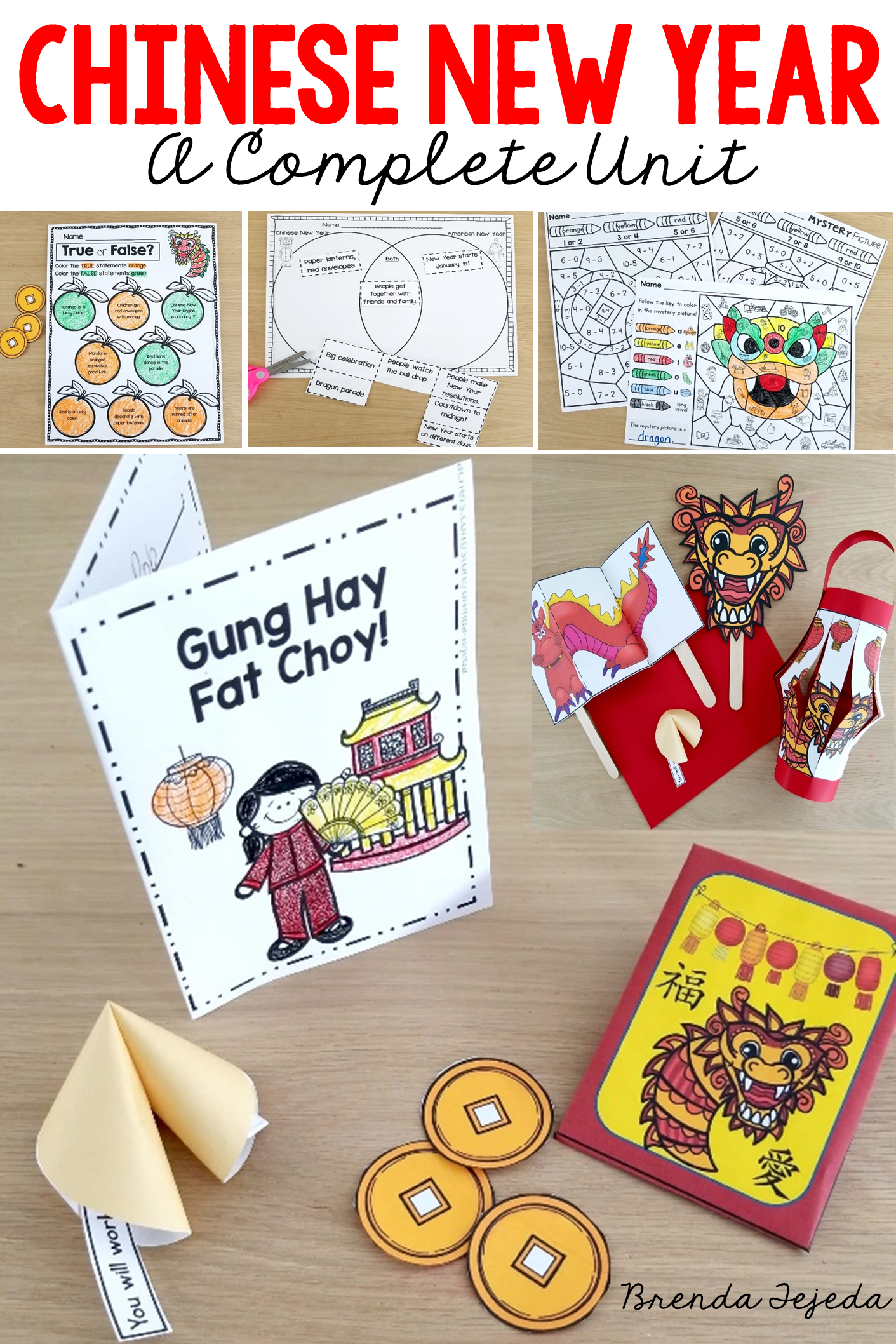 Chinese New Year Fact Cards Printables Crafts