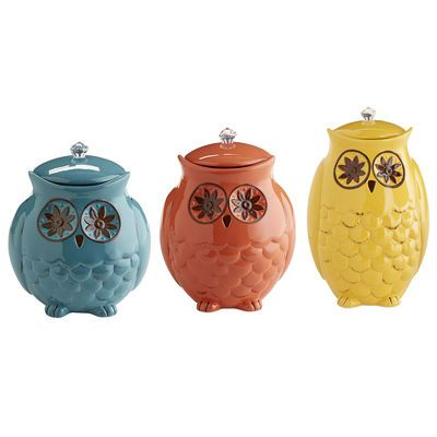 starry night owl canisters from pier 1 imports a little birdy said rh pinterest com