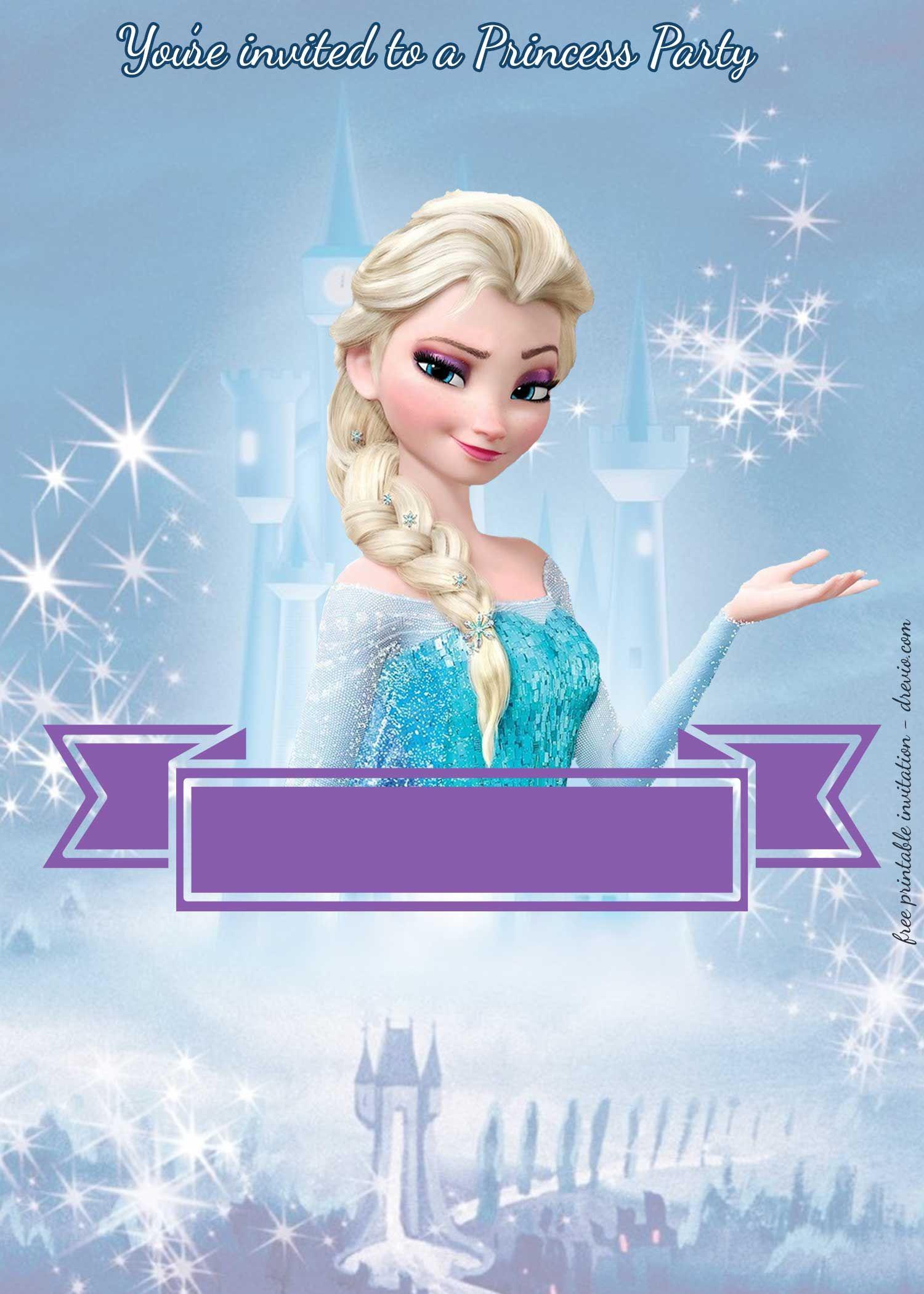 free princess party birthday invitation templates lidia