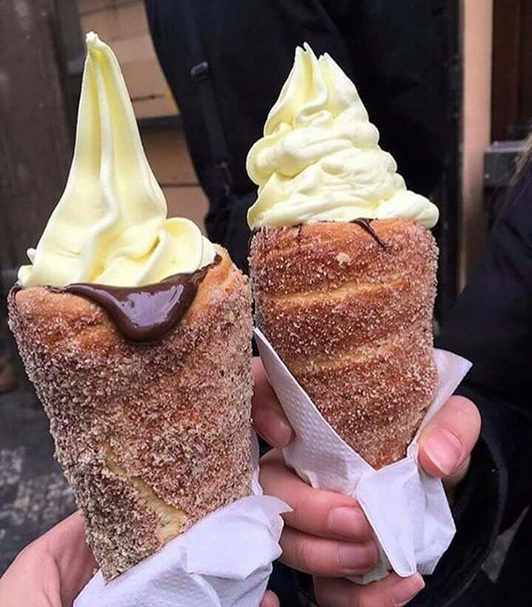 Donut ice cream cones make it with churro batter instead freeze donut ice cream cones make it with churro batter instead freeze it in cone shape and deep fry ccuart Gallery