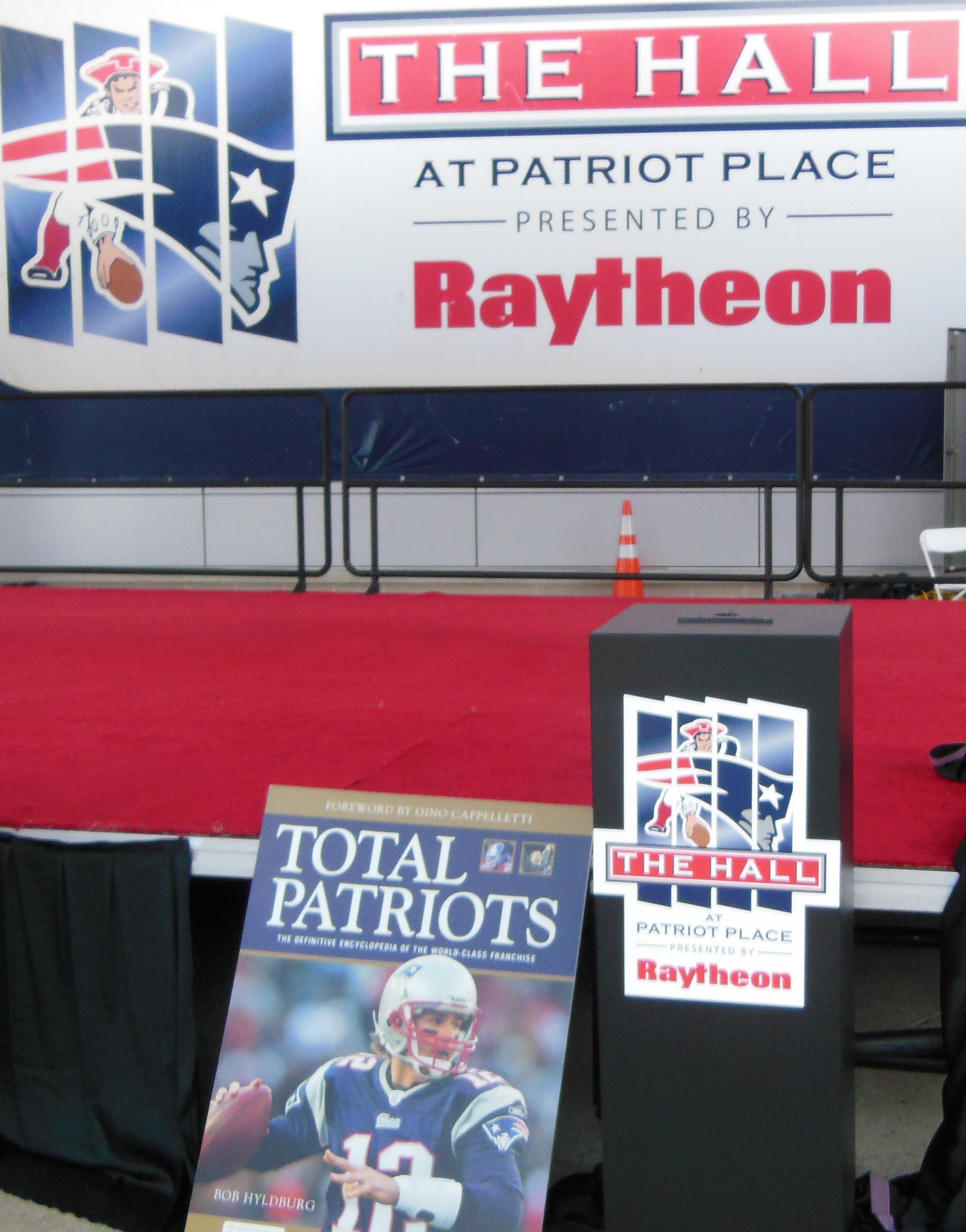 Outside the Patriots Hall of Fame. Patriots, Hall of fame
