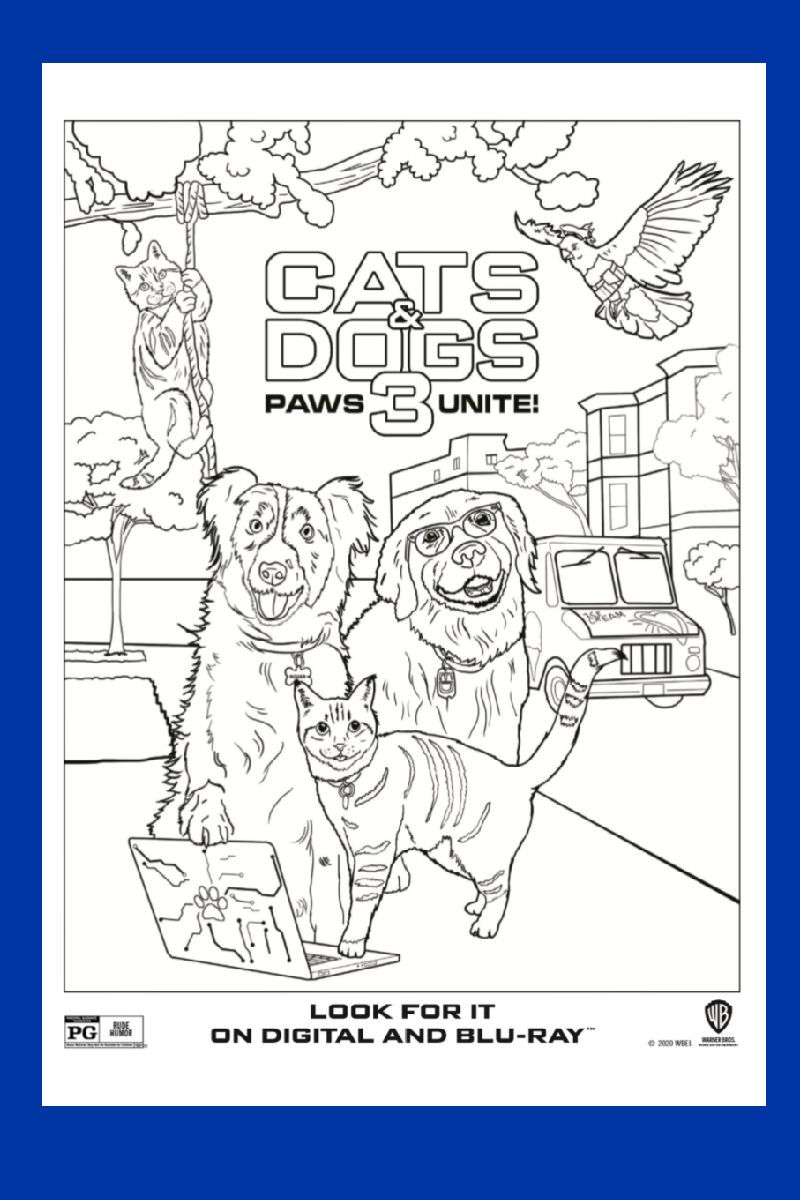 Cats And Dogs Coloring Page Paws Unite Dog Coloring Page Coloring Pages Free Printable Coloring Pages
