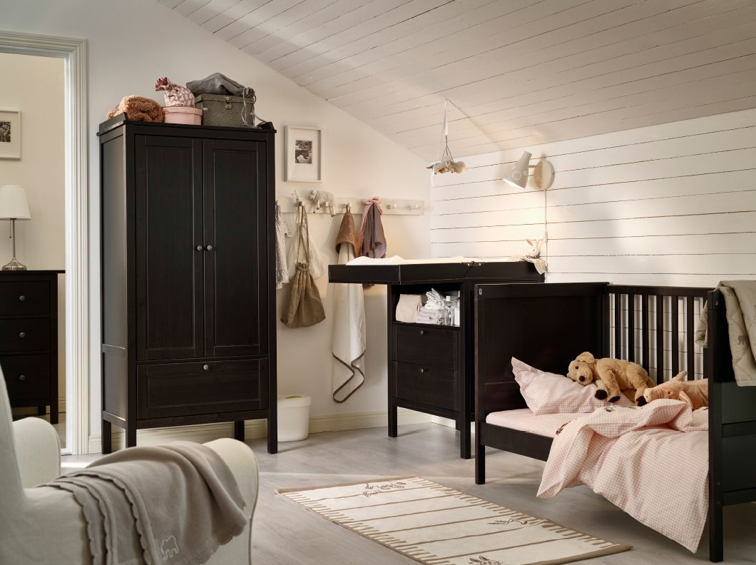 Ikea Muebles Bebe A Nursery With A Cot Changing Table And Wardrobe All In