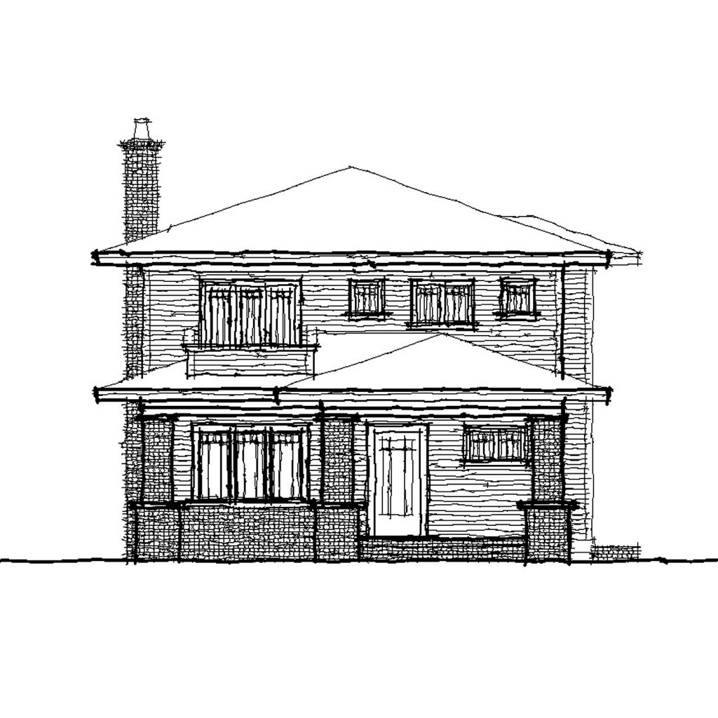 Tulip front elevation tulip exterior drawing the for Elevation of bungalow