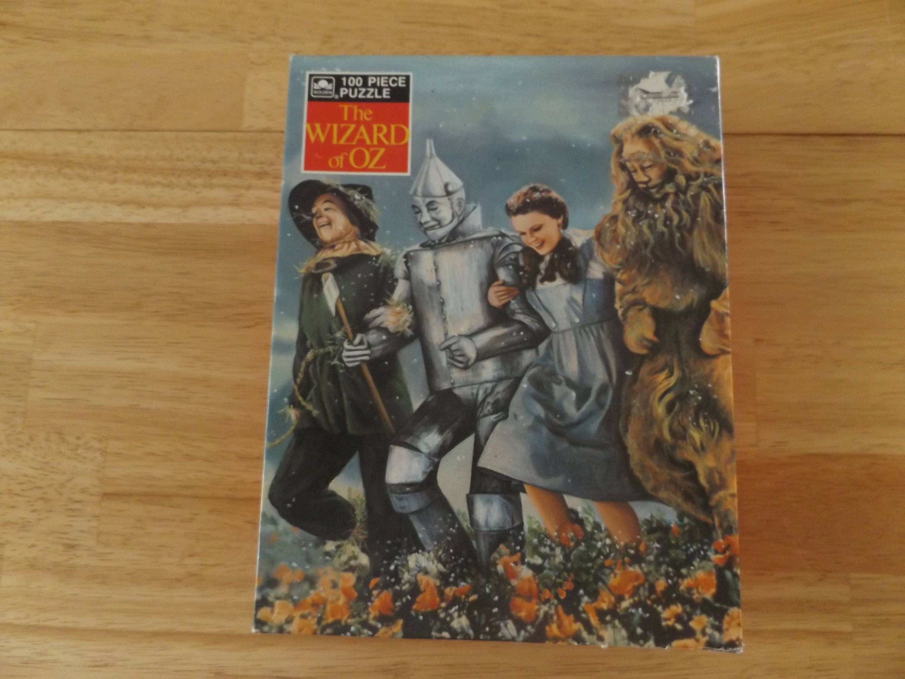 Vintage Wizard Of Oz Jigsaw Puzzle Golden Puzzle