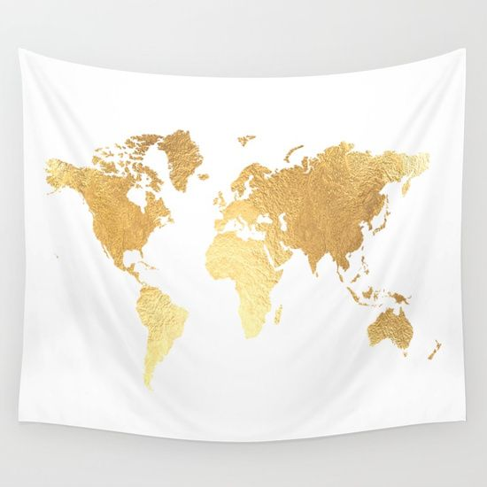 Textured texture gold map new room pinterest tapestry textured gold map wall tapestry by jenna davis designs gumiabroncs Images