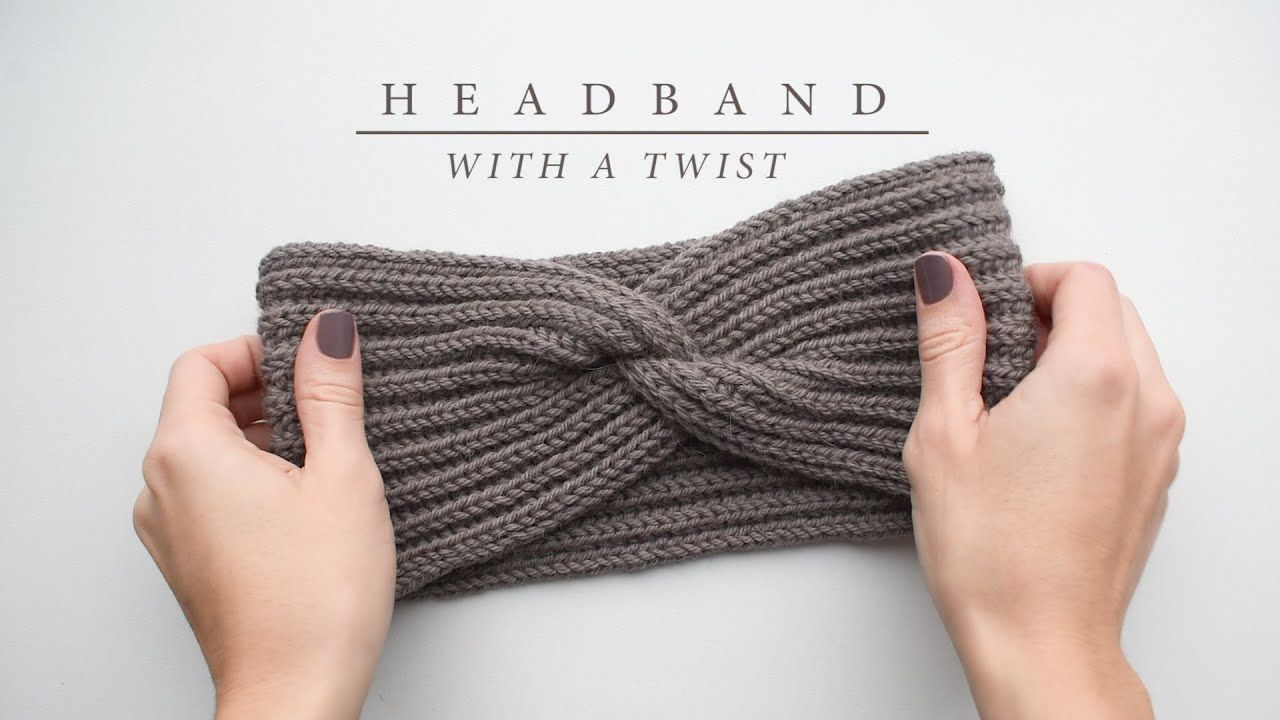 How to knit a headband with a twist | Knitting tutorial ...