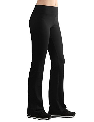 Lock and Love LL Womens Active Slim Fit Bootleg Yoga Pants - Made in ... a62a15dbbe