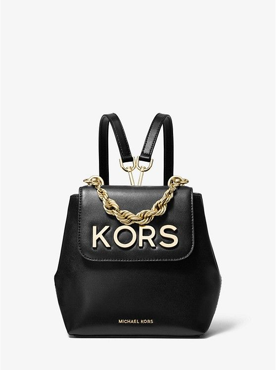6105ca6c4 25% Off @ MICHAEL KORS Holiday Event! KORS Mott Extra-Small Embellished  Black Leather Backpack ~ Today's Fashion Item