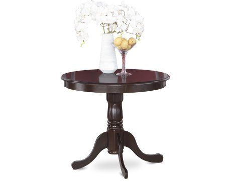 East West Furniture Ant Cap T Round Table 36 Inch Cappuccino