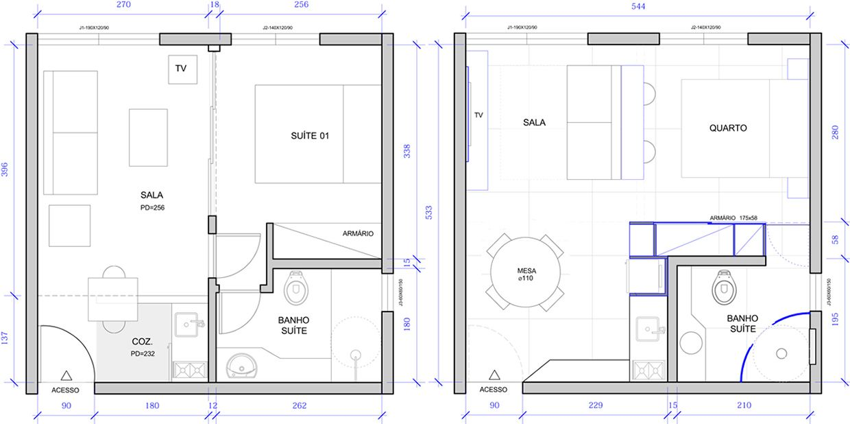 Tiny Apartment Layout in a tiny apartment, everything must have its place and stay there