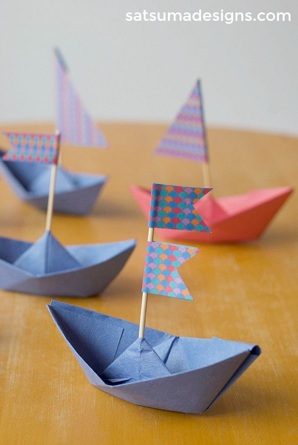 How To Fold A Paper Boat With Images Origami Crafts Paper