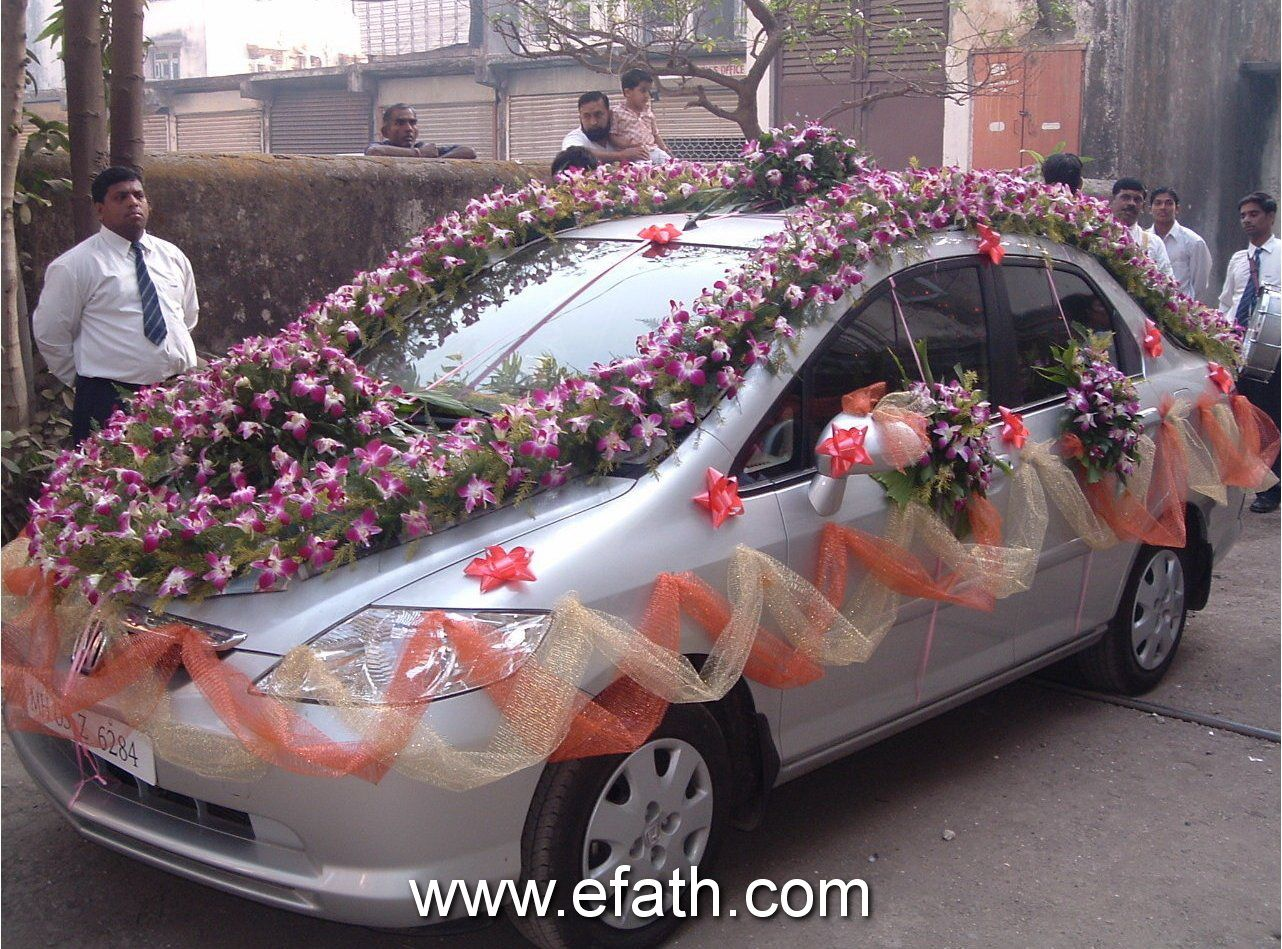 Car Decoration Weding Image Detail For Indian Wedding Car Decoration Indian Wedding Car