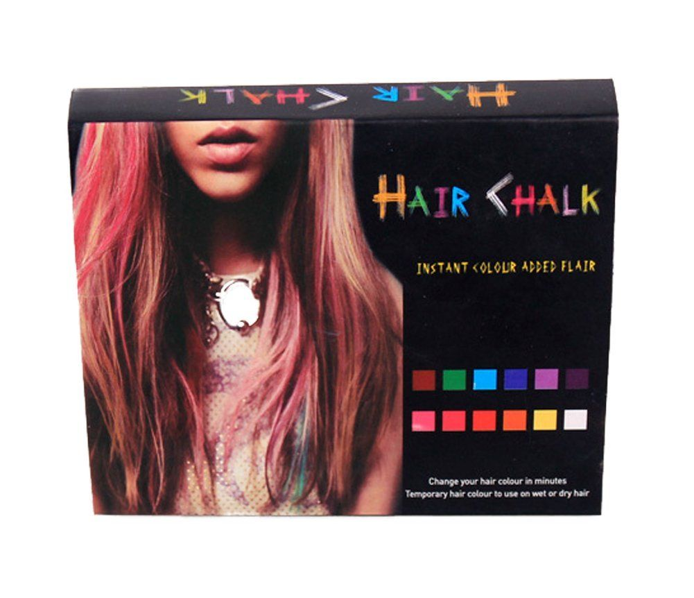 Hair Chalk Temporary Hair Highlights 12 Colors Check Out The