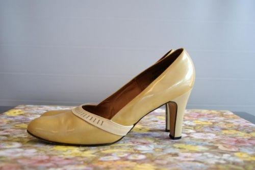Culture bruktVintageVintageCulture i Pent str 9cm Gul sko 7 hel oeCBdx