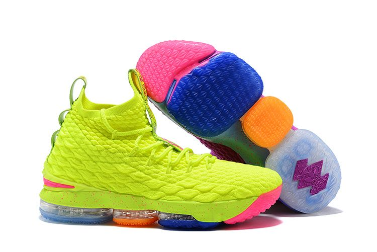 5ba495a9a15f Nice Nike LeBron 15 Pride of Ohio Purple Fluorescent yellow Men s Sneakers  Basketball Shoes