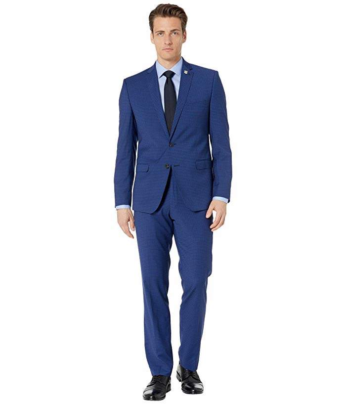 Nick Graham Blue Check Suit | Checked suit, Blue check ...