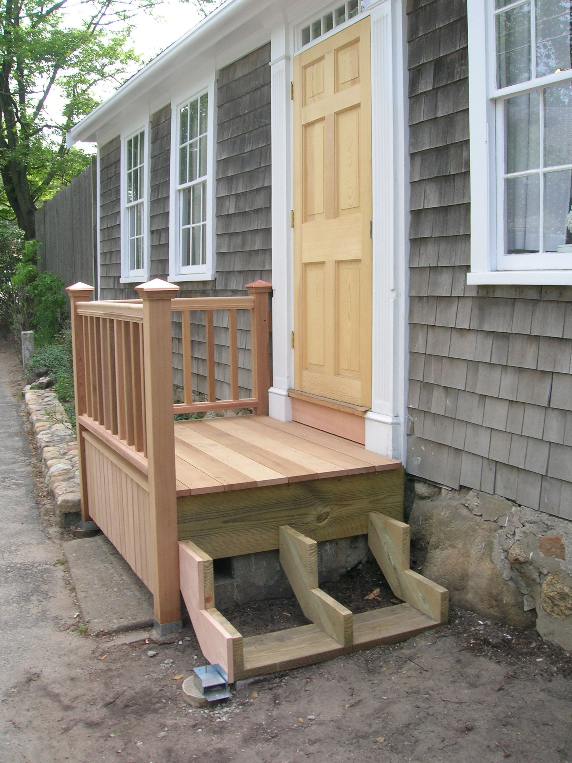 Building The New Front Steps Front Porch Steps Porch Steps | Pre Built Wooden Steps | 12 Step | Interior | Box | Oak | Premade