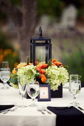 A lovely thyme fall wedding centerpiece with lantern a lovely thyme fall wedding centerpiece with lantern junglespirit Image collections