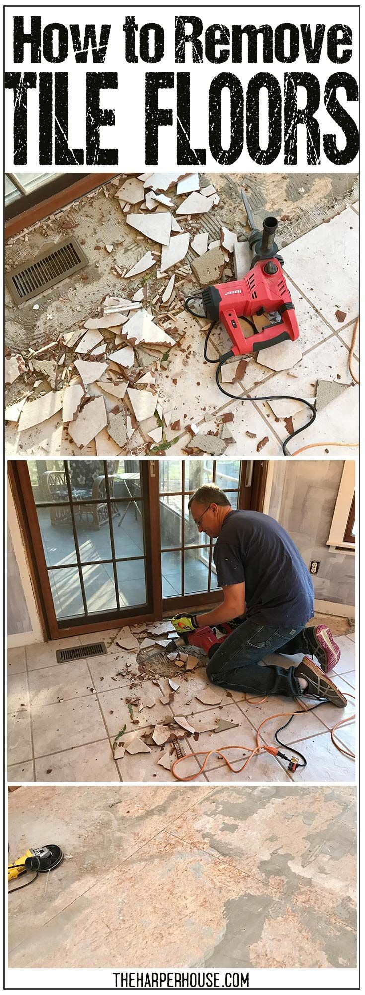 How to remove tile floors ceramic tile floors tile flooring and how to remove tile floors diy ceramic tile floor removal with tips tricks dailygadgetfo Images