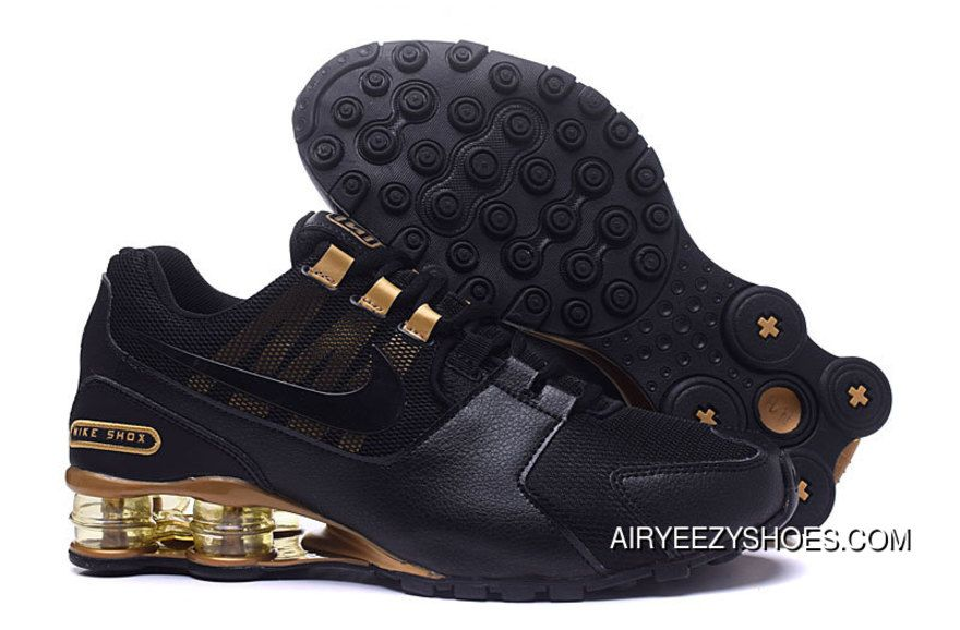 hot sale online 27643 87621 Nike SHOX Avenue 802 Black And Gold Super Deals, Price   88.54 - Air Yeezy  Shoes