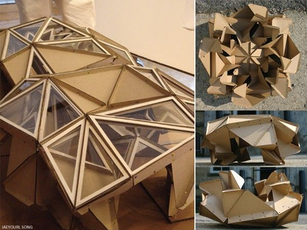 Architectural models cardboard architecture model for Triangle concept architecture