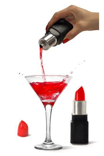 Lipstick Flask... for the fashionable alcoholic.