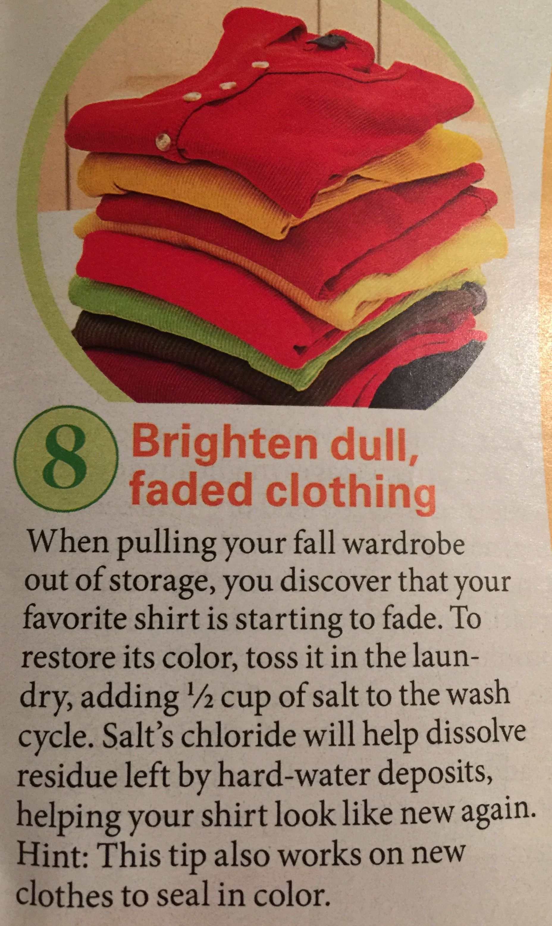 Brighten Dull Fading Clothing And Seal Color For New