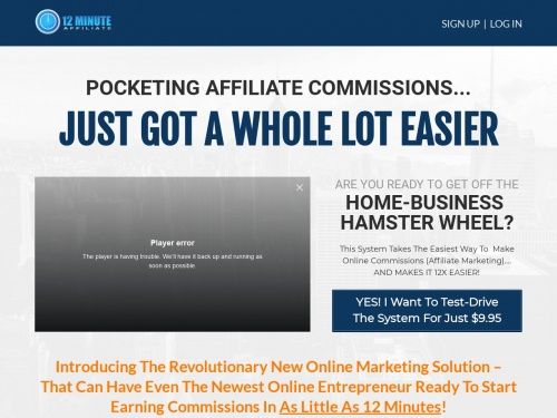12 Minute Affiliate System  Feature