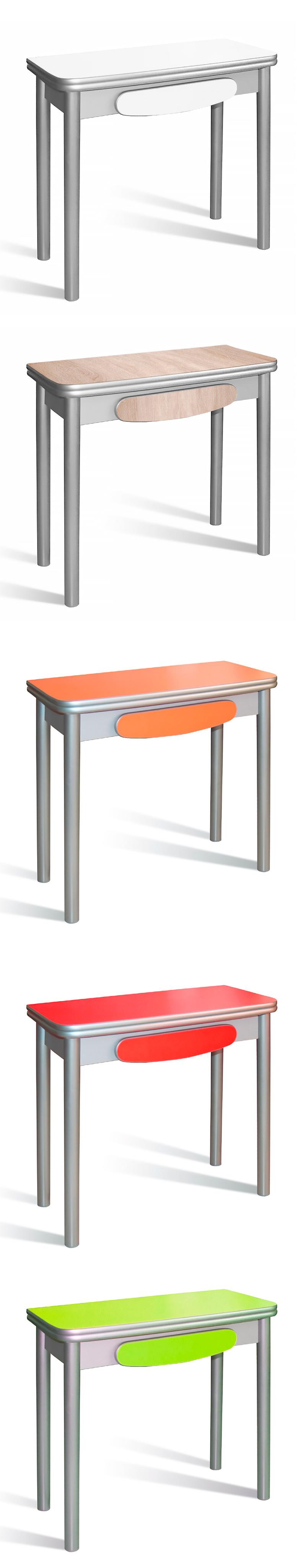 Mesa de cocina Pop con sistema de apertura tipo libro con estructura ...