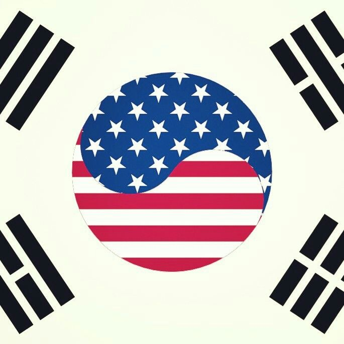 America S Korea Korean Flag American Flag Tattoo Korean American