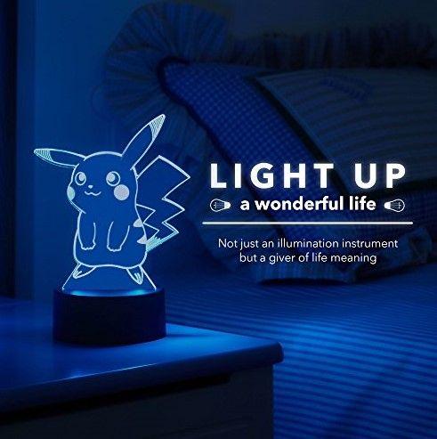 Pikachu Night Light 3D LED Geek Gift Ideas For Nerds 2018