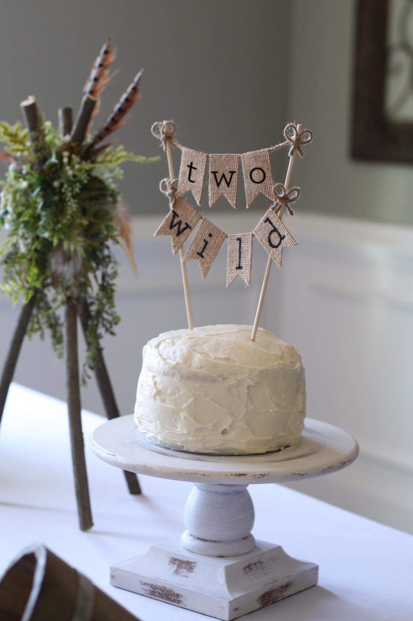 Two Wild Cake Topper Birthday Banner Second 2nd Ideas