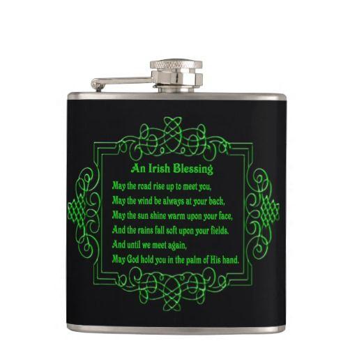 Irish Blessing Flask http://www.zazzle.com/irish_blessing_flask-256470004327441294?rf=238271513374472230