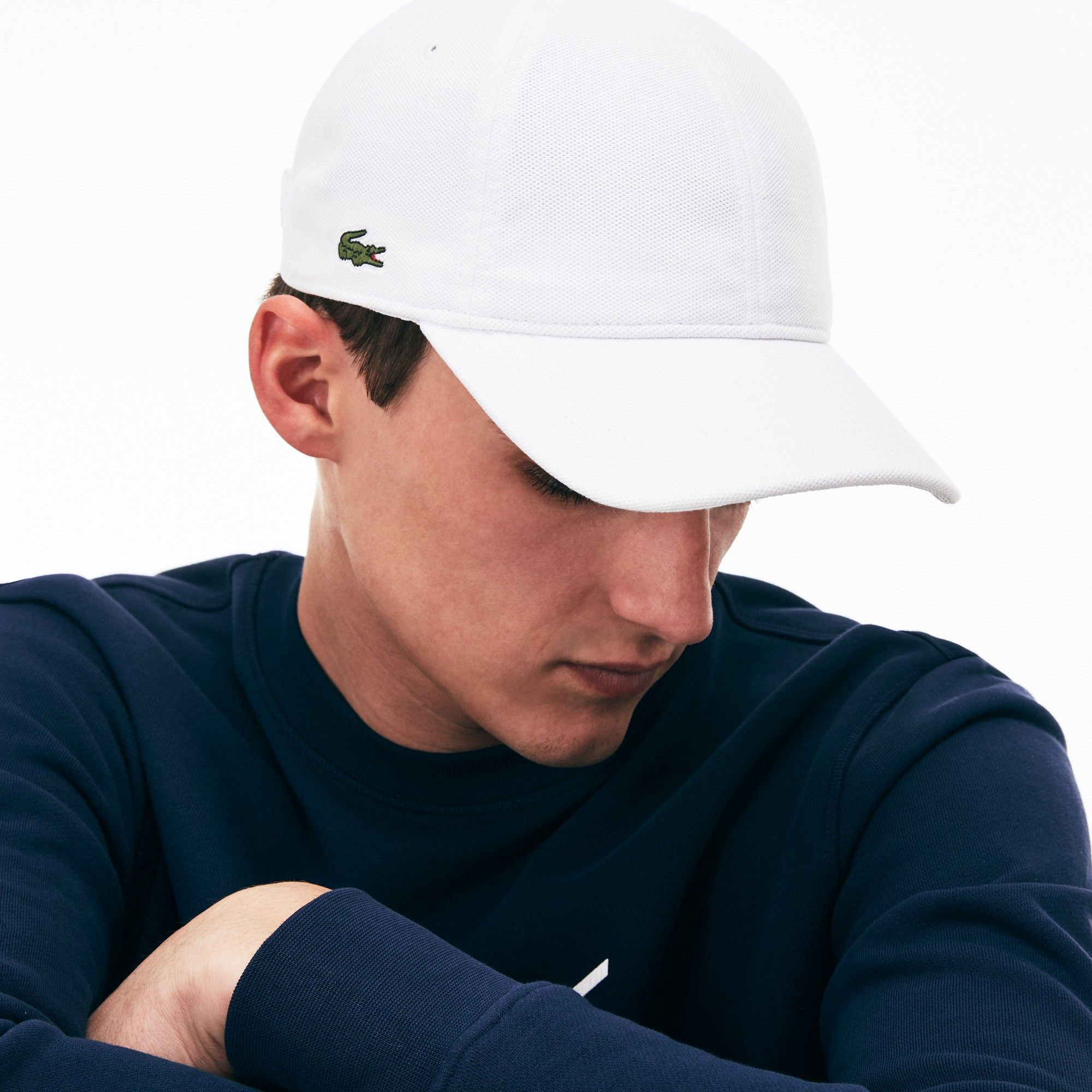 Lacoste Men s Cotton Piqué Cap - Silver Grey Chine L Green 4d994f990e8c
