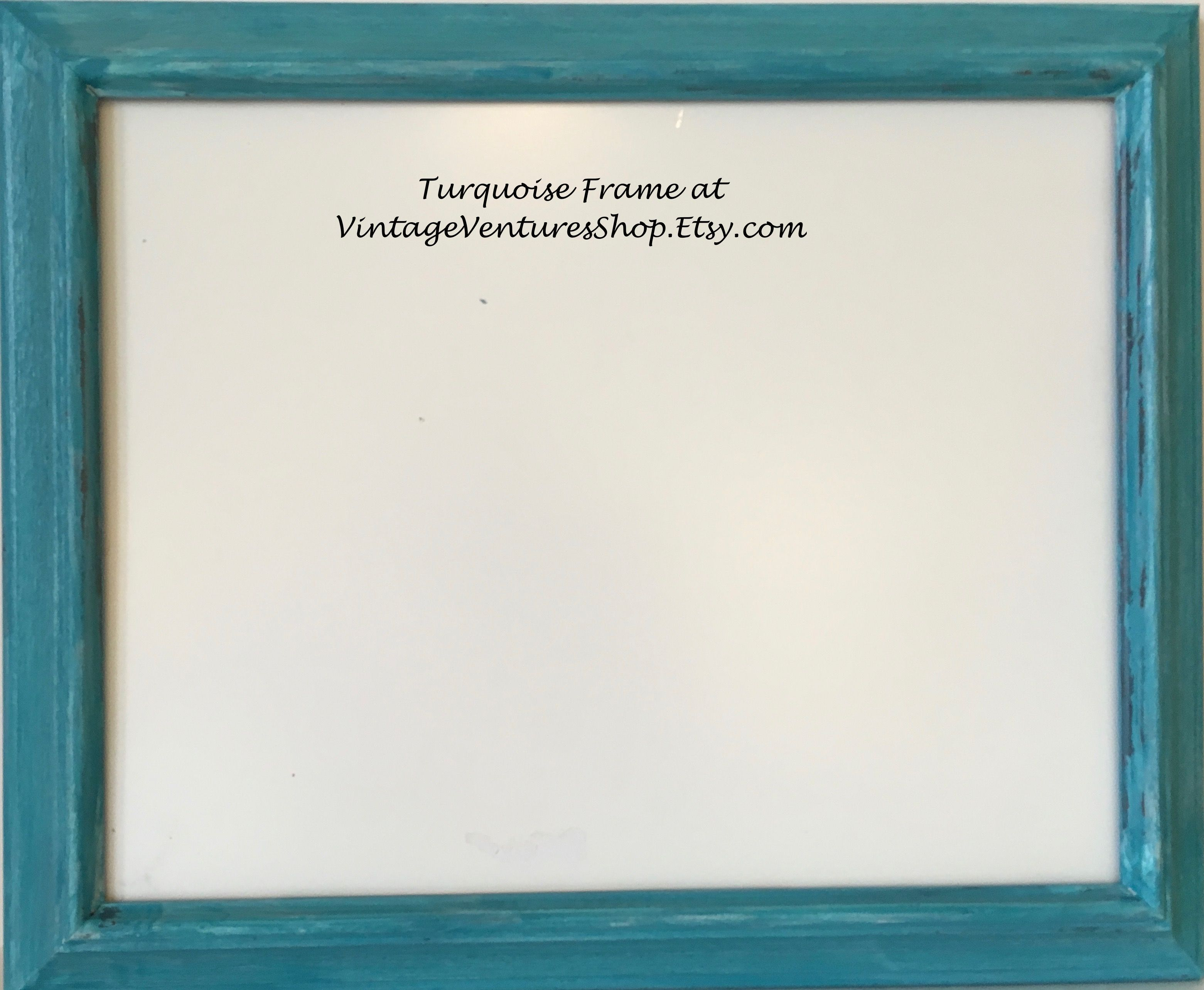 Vintage Frame up cycled - painted in trendy turquoise at ...