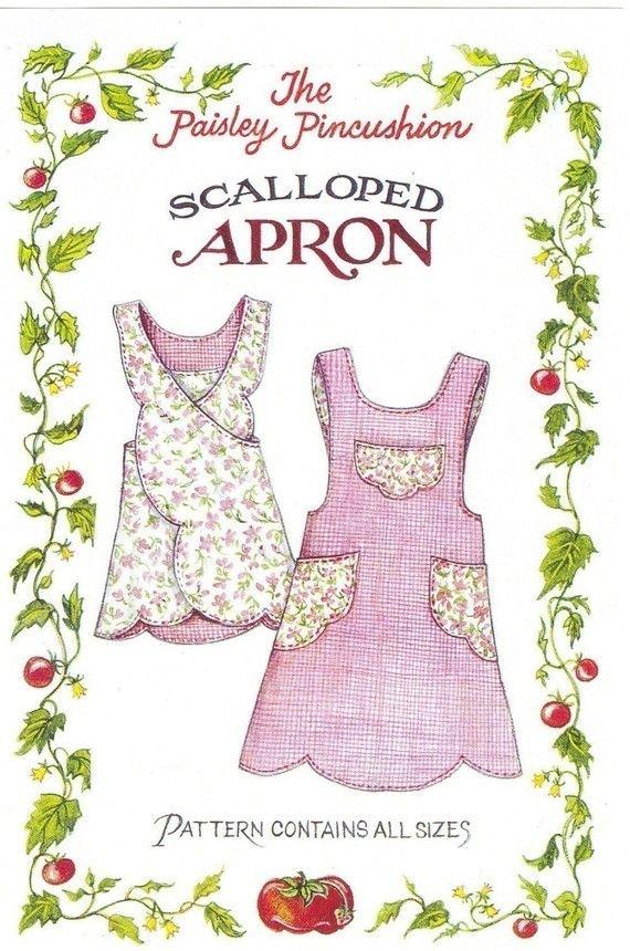 Scalloped Apron Pattern | guardapolvos | Pinterest | Nähen ...