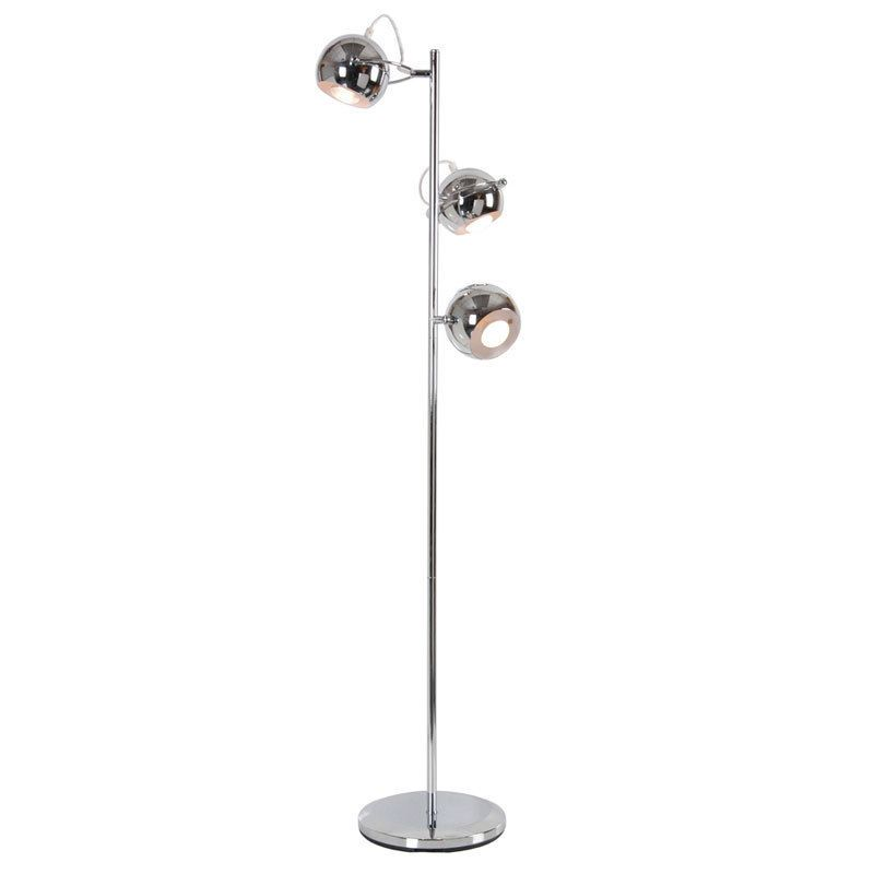 Modern Chrome 3 Way Reading Spot Light Floor Standing Standard Lamp Light Lamps Standard Lamps