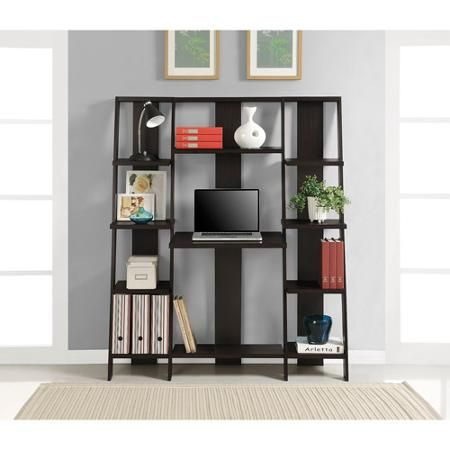Altra Ladder Desk And Bookcase Espresso Finish