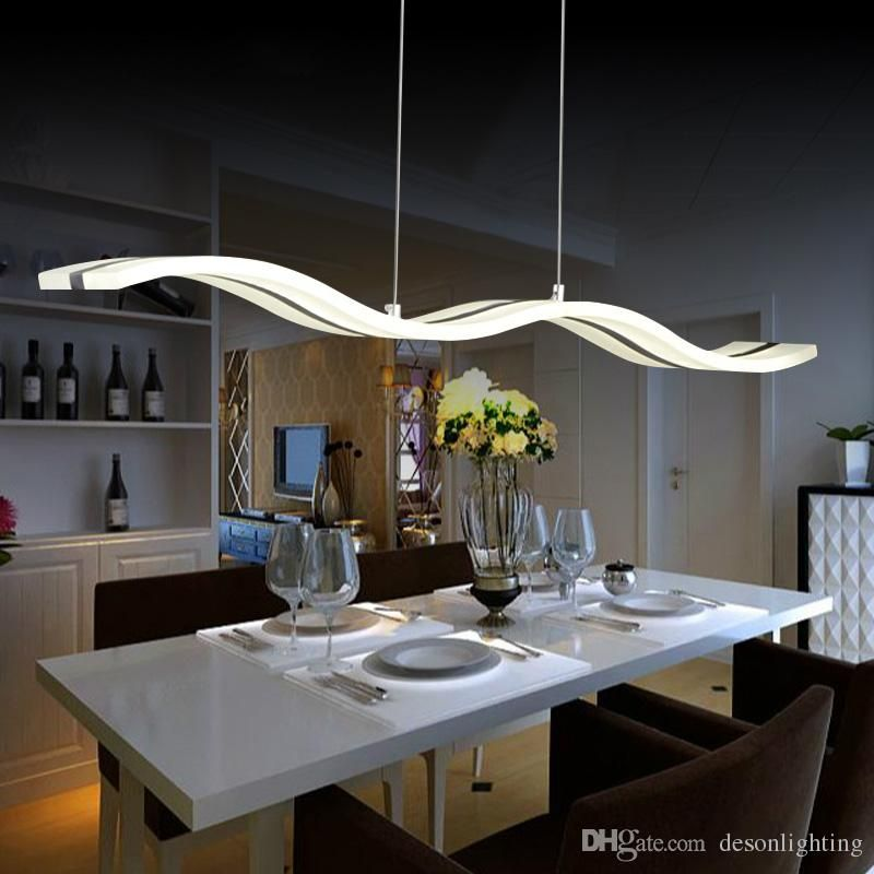 Modern Led Pendant Lamp Light Kitchen Acrylic Suspension Hanging Ceiling Lamp Design Dining Tabl Esstisch Beleuchtung Esszimmer Beleuchtung Kuchendesign Modern