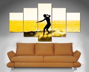 Surfer Split Canvas Print