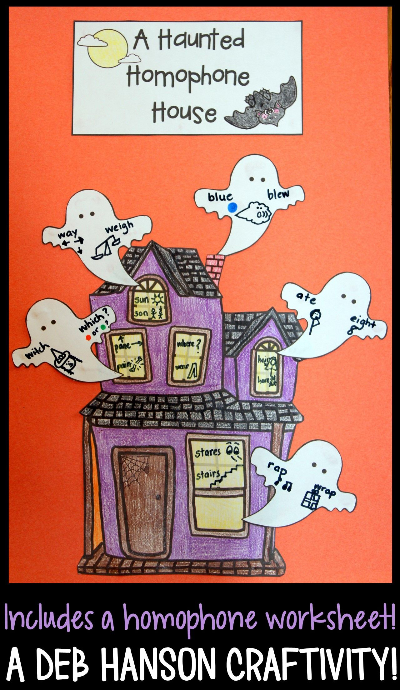 Haunted House Craftivity That Focuses On Homophones