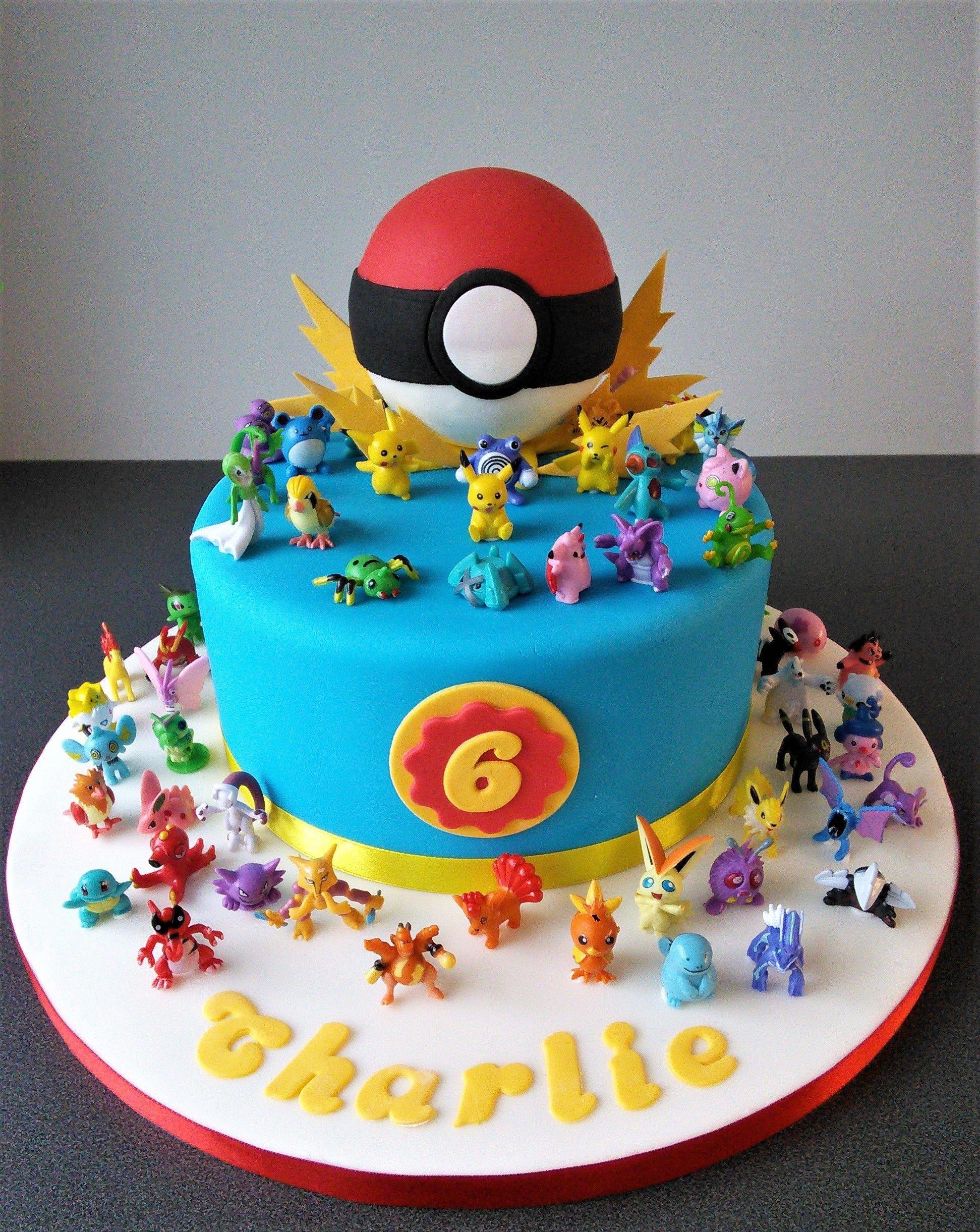 Wondrous Pokemon Go Birthday Cake Easyboybirthdaycakes With Images Funny Birthday Cards Online Barepcheapnameinfo