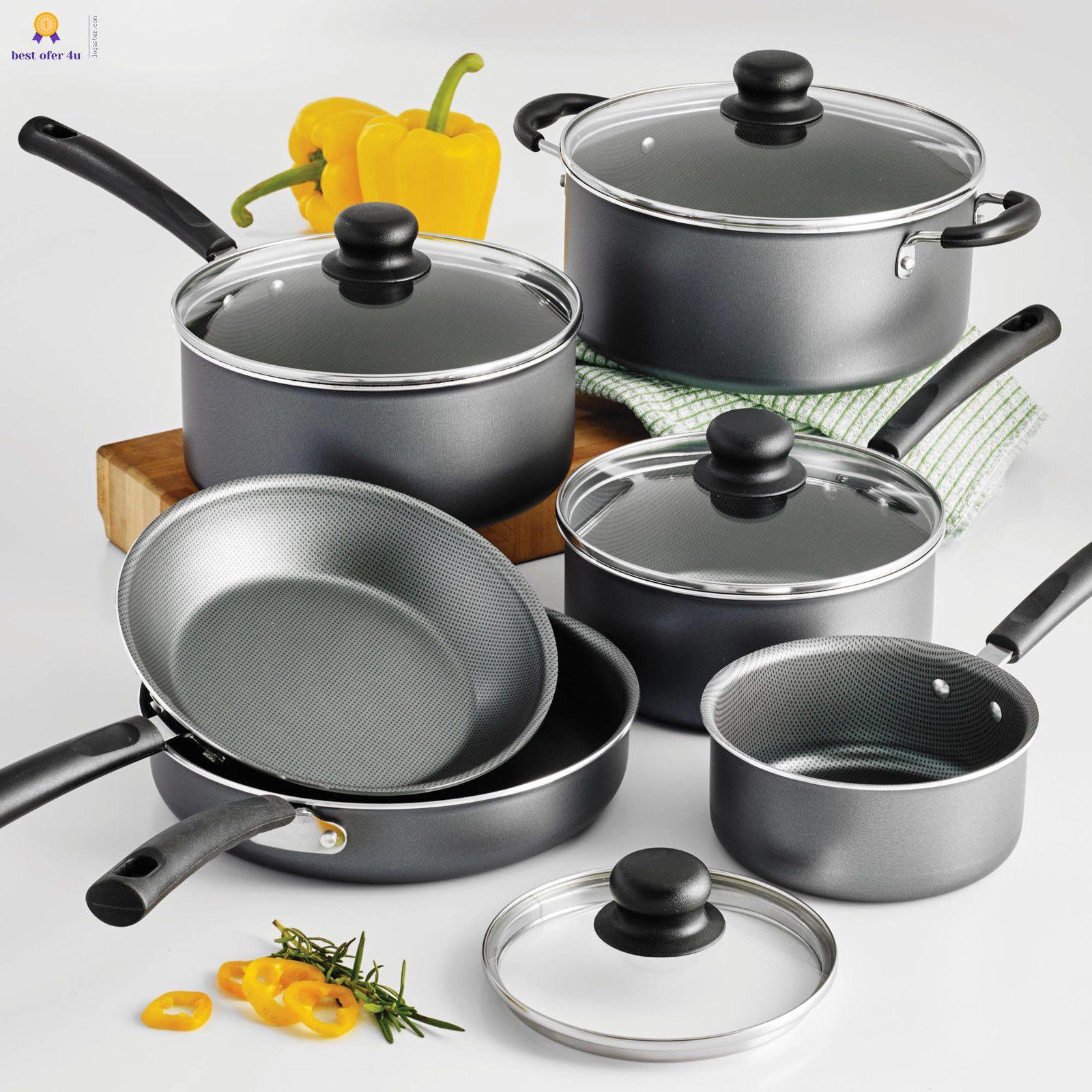 Tramontina Primaware 10 Piece Nonstick Cookware Set Steel Gray